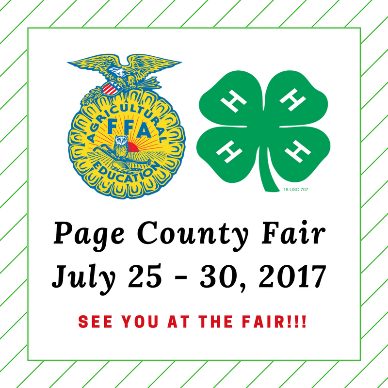 Page County Fair Website - FB Post