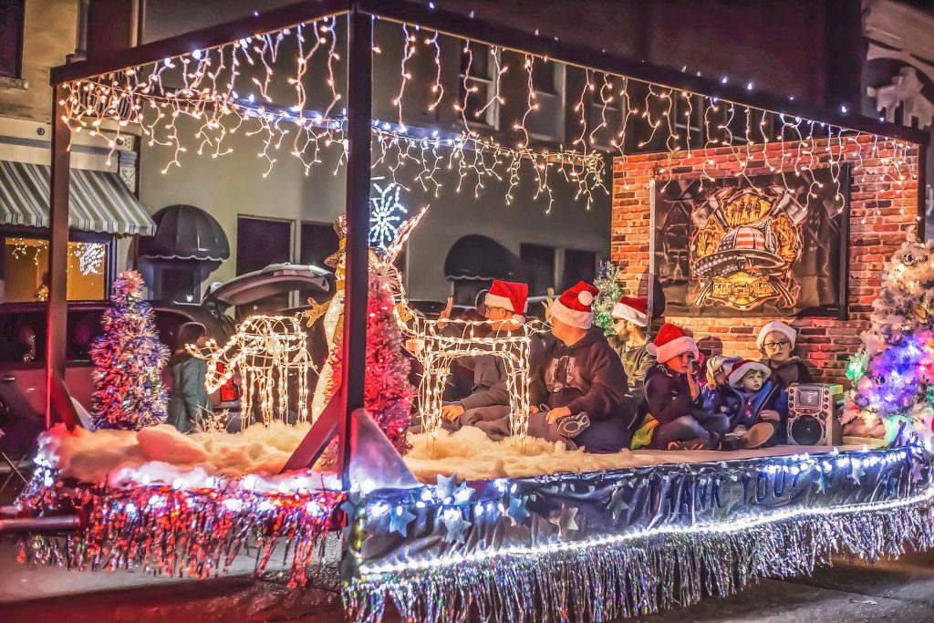 Lighted Christmas Parade - Artistic Images by Heather Marsh